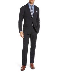 Ring Jacket Trim Fit Windowpane Wool Suit