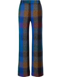 Missoni Checked Wool Blend Wide Leg Pants
