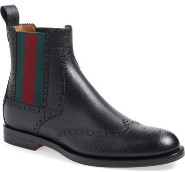Gucci Strand Wingtip Chelsea Boot, $975