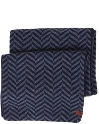 Ben Sherman Reversible Chevron Knit Scarf