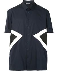 Neil Barrett Chevron Detail Short Sleeved Shirt