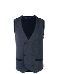 Lardini Chevron Pattern Vest