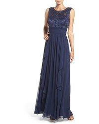 Lace chiffon gown medium 3753587