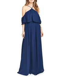 Rebecca off the shoulder chiffon gown medium 3714948