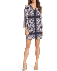 Bell sleeve chiffon shift dress medium 5170688