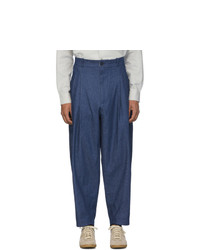 House Of The Very Islands Blue Bourgeoisie Loose Cut Trousers