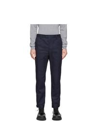 Lanvin Blue Buttoned Hem Trousers