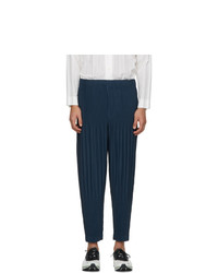 Homme Plissé Issey Miyake Blue Monthly Colors October Trousers