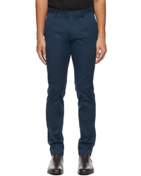Paul Smith Blue Organic Cotton Slim Fit Chino Trousers