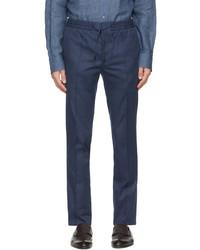 Brioni Blue Twill Sea Island Sydney Trousers