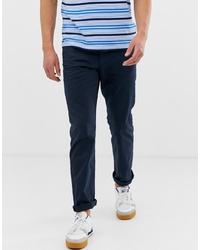 Esprit Casual 5 Pocket Straight Fit Twill Trouser In Navy