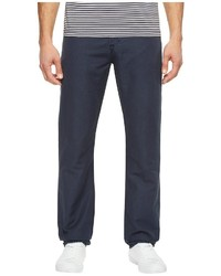 AG Adriano Goldschmied Graduate Tailored Leg Linen Pants In Sulfur Night Sea Casual Pants