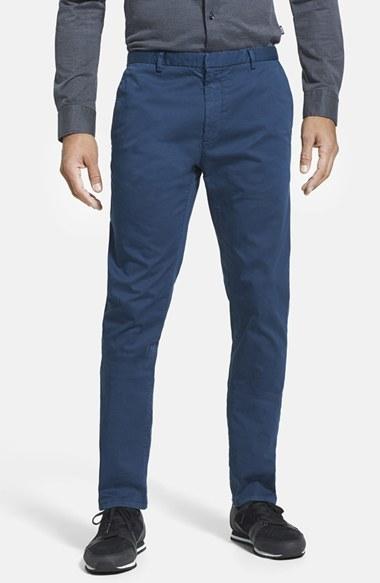straight leg chino trousers - Blue HUGO BOSS ENatCj