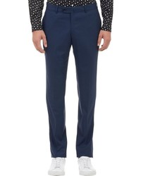 TOMORROWLAND Loro Piana Micro Check Trousers Blue