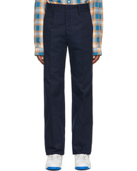Gucci Navy Cotton Re Edition Trousers