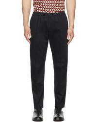 Dries Van Noten Navy Cotton Trousers