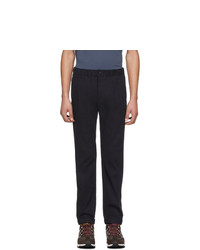 Ps By Paul Smith Navy Elasticized Waistband Trousers