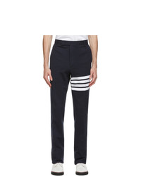 Thom Browne Navy French Terry 4 Bar Trouser