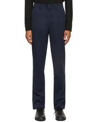 Lacoste Navy Gabardine Chino Slim Fit Trousers