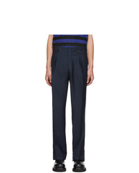 Lanvin Navy High Waisted Trousers