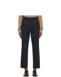 Gucci Navy Interlocking G Patch Trousers