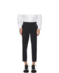 Neil Barrett Navy Nylon Cuff Trousers