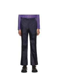 Prada Navy Nylon Gabardine Trousers