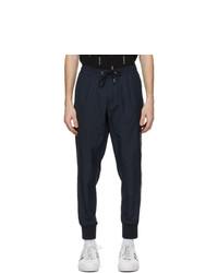 Moncler Navy Nylon Track Pants