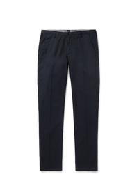 Hugo Boss Navy Slim Fit Gart Dyed Stretch Cotton Twill Chinos