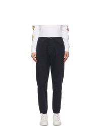 Ps By Paul Smith Navy Stretch Twill Trousers
