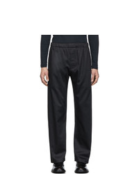 Lemaire Navy Sunspel Edition Elasticized Trousers