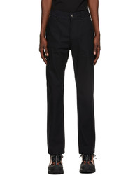 Burberry Navy Technical Cotton Tailored Trousers