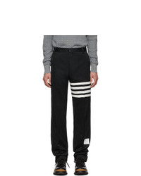 Thom Browne Navy Unstructured Chino 4 Bar Trousers