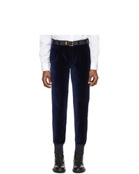 Paul Smith Navy Velvet Jogger Trousers
