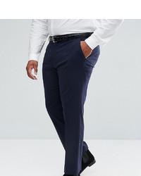 ASOS DESIGN Plus Slim Smart Trousers In Navy