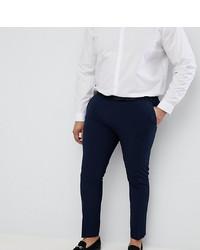 ASOS DESIGN Plus Super Skinny Smart Trousers In Navy