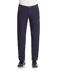 Saks Fifth Avenue Flat Front Cotton Chinos