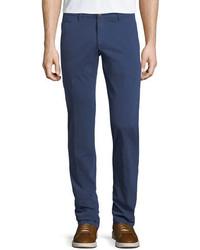 Jacob Cohen Stretch Chino Flat Front Pants Blue