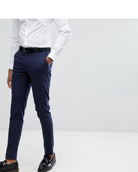ASOS DESIGN Tall Skinny Smart Trousers In Navy