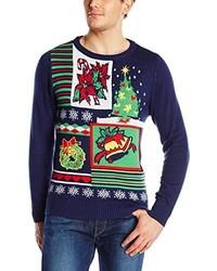 Navy Christmas Crew-neck Sweater