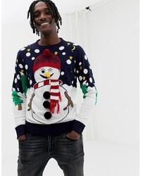 Brave Soul Christmas Naughty Snowman Jumper
