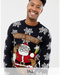 Brave Soul Tall Stag Party Christmas Jumper
