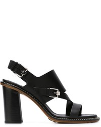 Tod's Buckle Detail Chunky Heel Sandals