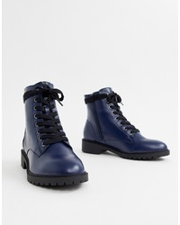 New Look Lace Up Chunky Flat Boot