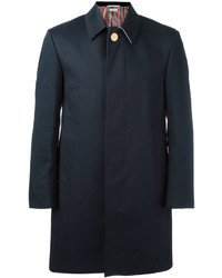Thom Browne Bal Collar Overcoat In Mackintosh