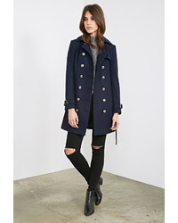 Forever 21 Belted Trench Overcoat