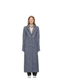 Marina Moscone Blue U Haul Blanket Coat