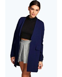 Boohoo Fay Textured Chuck Duster Coat