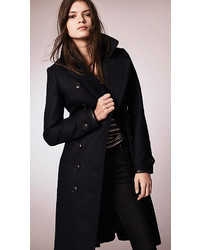 Burberry Brit Wool Blend Military Pea Coat With Warmer | Where to ...