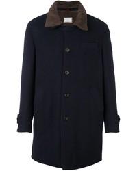 Brunello Cucinelli Cashmere Contrast Collar Coat